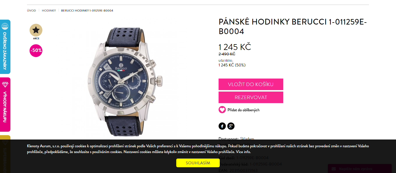3782d1e87 Pánské hodinky Berucci | ToSeVyplatí