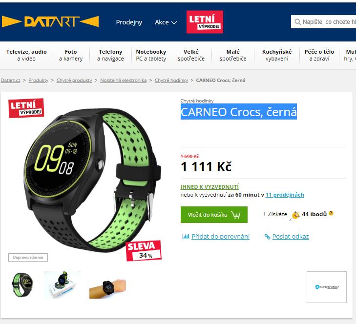 b80d919745a Chytré hodinky CARNEO Crocs