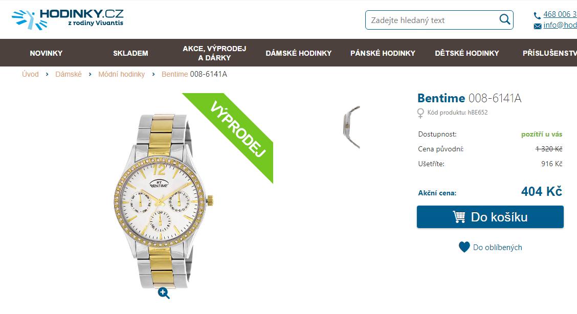 8cb9805da Dámské hodinky Bentime 008-6141A | ToSeVyplatí
