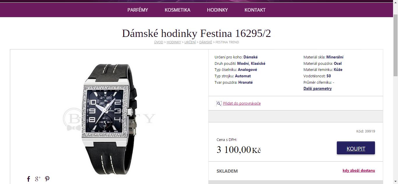 Dámské hodinky Festina - sleva 63% (-5200 Kč)  9ab7e18743
