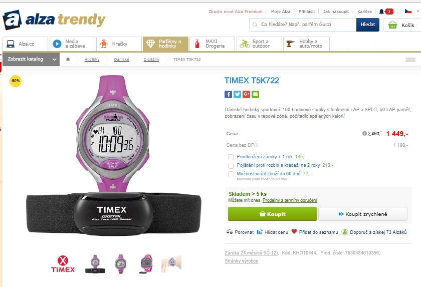 982a7ee6e22 Dámské sportovní hodinky Timex T5K722