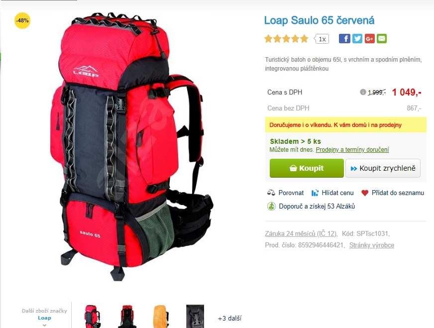 f0ccd9aaf4 Turistický batoh Loap SAULO 65