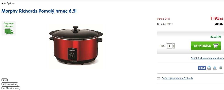 e9f08b012 Hrnec na pomalé pečení Morphy Richards | ToSeVyplatí