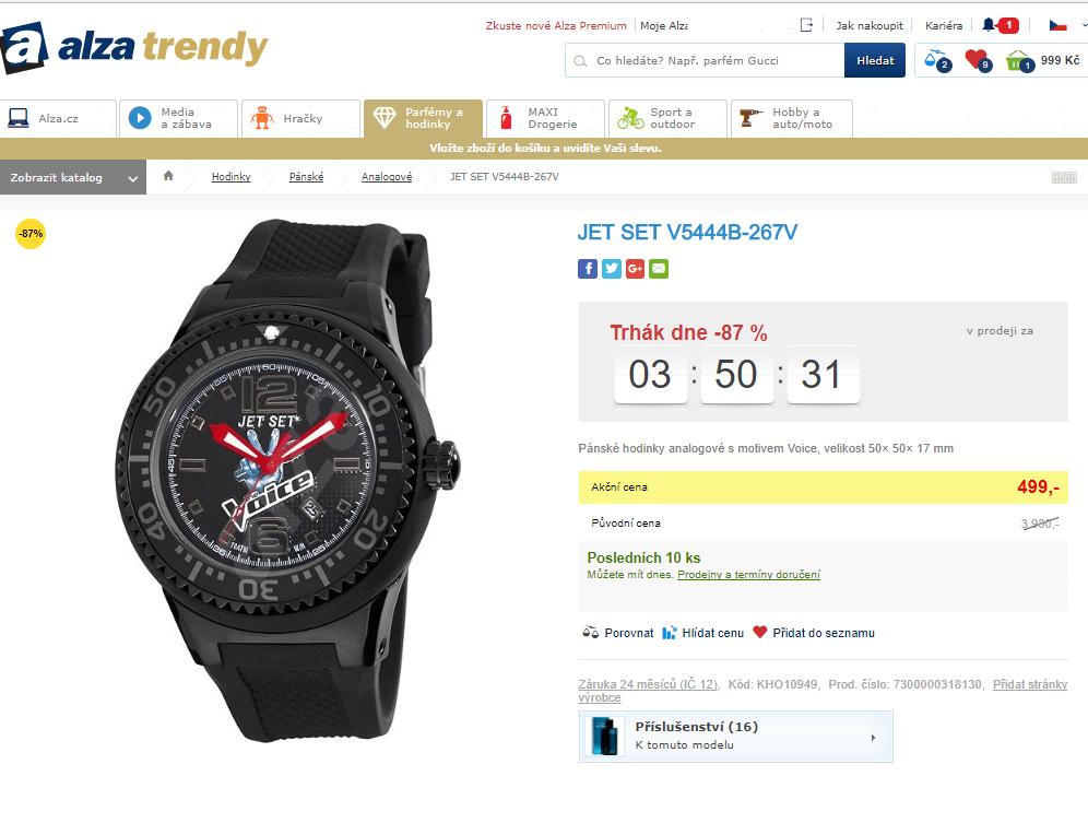Pánské hodinky JET SET V5444B-267V  dac648e5631
