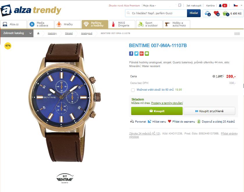 2429a55137 Pánské hodinky Bentime 007-9MA-11107B