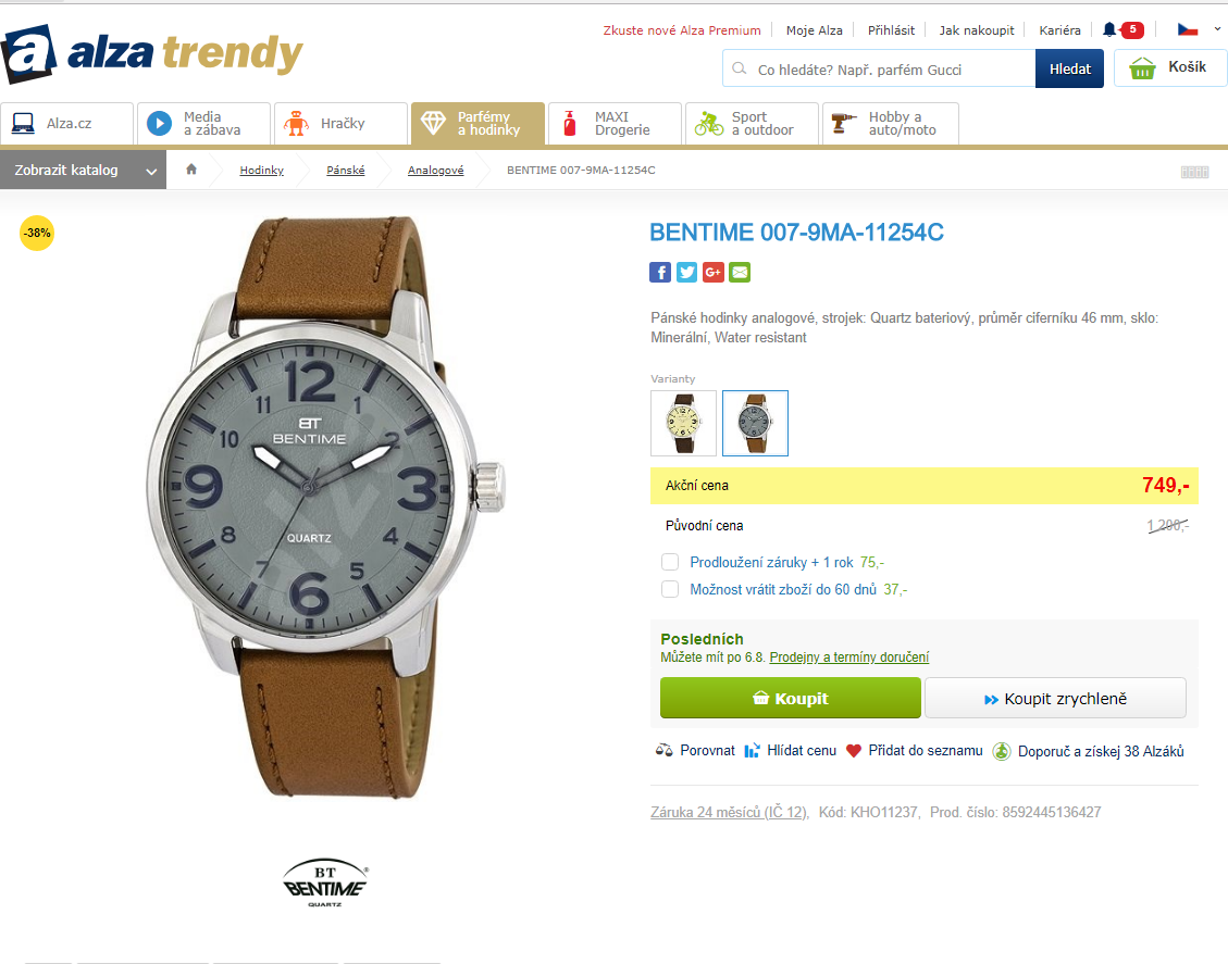 Pánské hodinky Bentime 007-9MA-11254C  9e35e40b04