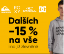 Extra -15% na Quiksilver, Roxy, DC a O´Neill | Urbanstore.cz
