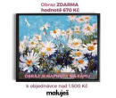 Obraz Kopretiny na rámu jako dárek | Malujes.cz