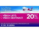 Sleva 20% na všechny letenky | Wizz Air