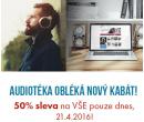 Sleva 50% na všechny audioknihy | Audioteka