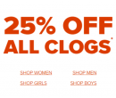 Sleva 25% na všechny Crocs Clogs | Crocs