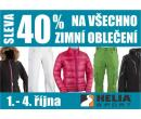 40% sleva na všechno zimní oblečení v Helia Sport | Helia Sport