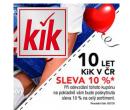 KiK - sleva 10% na celý nákup | Kik