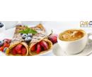 Palačinka s marmeládou a šlehačkou + káva   Slevici