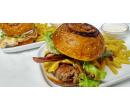 1× burger dle výběru + hranolky | Slevomat