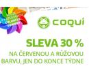 Sleva 30% na vše červené a růžové - Coqui | Coqui.cz