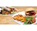 Bezlepkový burger s hranolky nebo tortilla    Slevomat