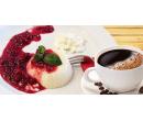 Dvě cappuccina nebo kávy a dezerty panna cotta | Slevomat