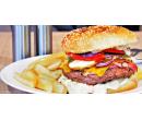 Maxi burger s extra náplní a steakovými hranolky | Slevomat