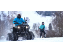 Jízda na lyžích či snowboardu tažených čtyřkolkou | Slevomat