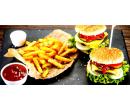 Dva hovězí burgery s hranolky | Slevomat