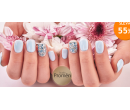 Nové gelové nehty včetně zdobení kamínky | Hyperslevy