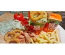 Kebab box s cibulovými kroužky a nápojem | Slevomat