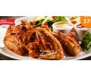 1000 g pečených kuřecích křídel,ošatka pečiva | Hyperslevy