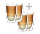 Termo sklenice na latté 410 ml 4 ks   4Home.cz