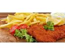 1× vepřový nebo kuřecí řízek (150 gr.) s hranolky | Slevomat