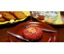 200g tatarský biftek namíchaný dle vašeho přání | Slevomat
