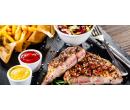 3 druhy steaků, salát, hranolky a dezert pro 2 | Slevomat