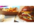 Burger menu s 200 g masa a hranolky   Slevomat