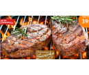 2× 200g vepřový steak + dresink + pečivo | Hyperslevy