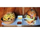 2× hovězí XXL burger a čokoládový fondant | Slevomat