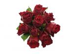 Kytice růží Madam Red o délce 50 cm se vzkazem | Slevomat