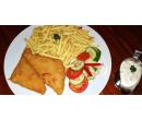 Smažený sýr se šunkou, hranolky nebo brambory | Slevomat