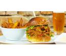 Burger s trhaným vepřovým masem   Slevomat