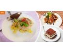 Degustační menu o třech chodech pro dva | Hyperslevy
