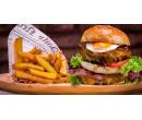 Burger s dvojitou porcí masa, belgické hranolky | Slevomat