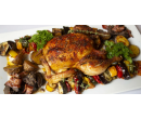 Pečené kuře a láhev vína pro 2  | Slevomat