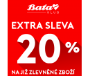 Extra sleva 20% na výprodej | Baťa