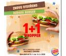 Akce 1+1 zdarma na Whopper | Burger King