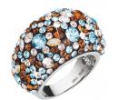 Stříbrný prsten Evolution Group, krystaly | Alza