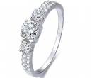Stříbrný prsten s krystaly Beneto  | Vivantis.cz
