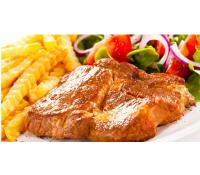600 g steaků, hranolky, brambory, placičky | Nakup v Akci