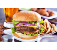 2x šťavnatý burger s hranolkami | Sleva Dne