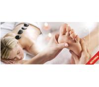 REFLEXNÍ MASÁŽ plosek nohou nebo masáž LÁV.KAMENY   Hyperslevy