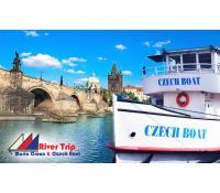 Vyhlídkové plavby lodí po Praze s rautem pro 1 os.   Pepa