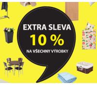 Extra sleva 10% na vše   Jysk